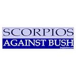 Scorpios Against Bush Bumper Sticker