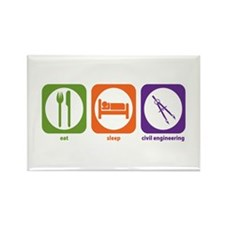 Eat Sleep Civil Engineering Rectangle Magnet (10 p