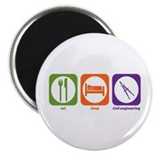 "Eat Sleep Civil Engineering 2.25"" Magnet (10"