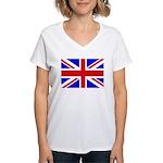 UK Flag Women's V-Neck T-Shirt