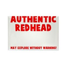 Authentic Redhead Rectangle Magnet