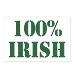 100% Irish Postcards (Package of 8)