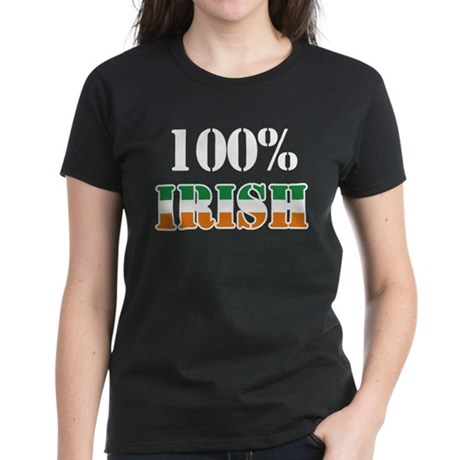 100 Percent Irish Women's Dark T-Shirt