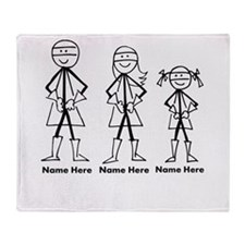 Personalized Super Family Throw Blanket