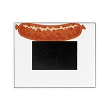 German Sausage Pun White Picture Frame