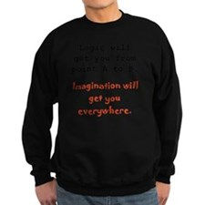 Imagination Everywhere Black Sweatshirt