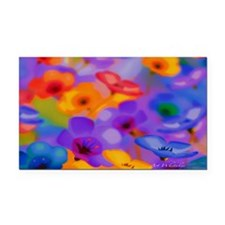 Beautiful Flowers Rectangle Car Magnet