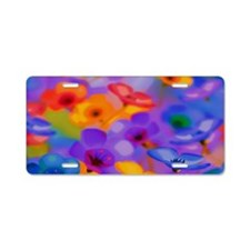 Beautiful Flowers Aluminum License Plate