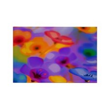 Beautuful Flowers Rectangle Magnet