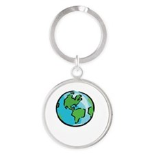 Save Earth Chocolate White Round Keychain