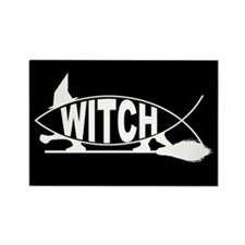 Witch Fish Rectangle Magnet