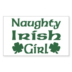 Naughty Irish Girl Rectangle Sticker