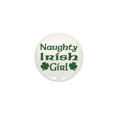 Naughty Irish Girl Mini Button (10 pack)