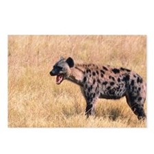 Hyena in grassland of Ken Postcards (Package of 8)