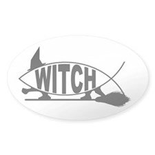 Witch Fish Oval Decal