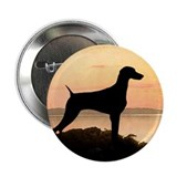 "Weimaraner Sunset 2.25"" Button (10 pack)"