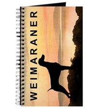 Weimaraner Sunset Journal