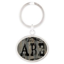 Abe, Western Themed Oval Keychain