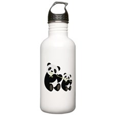Two Pandas with Bamboo Water Bottle