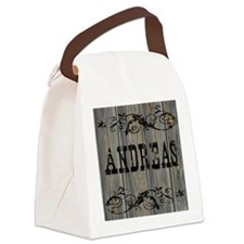 Andreas, Western Themed Canvas Lunch Bag