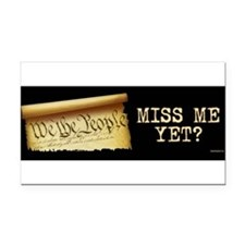 Unique Miss me yet Rectangle Car Magnet
