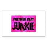 Polymer Clay Junkie Rectangle Decal
