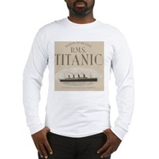 RMS Titanic Sepia Long Sleeve T-Shirt