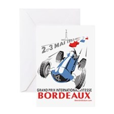 Grand Prix Bordeaux Greeting Card