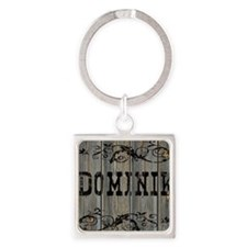 Dominik, Western Themed Square Keychain