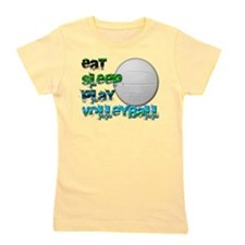 Eat sleep volly 2 png.png Girl's Tee