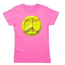 Peace softball png.png Girl's Tee