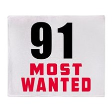 91 most wanted Throw Blanket