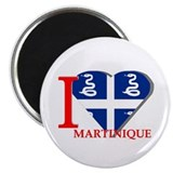 I love Martinique Magnet