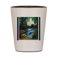 Summer Day of the Mississippi Path Shot Glass