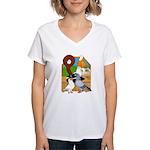 Five Pigeons Women's V-Neck T-Shirt
