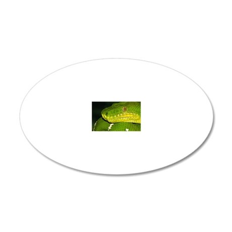 mouse-greenpython 20x12 Oval Wall Decal