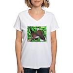 Ringneck Doves Women's V-Neck T-Shirt