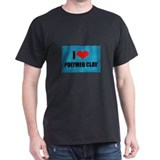 I Love Heart Polymer Clay T-Shirt