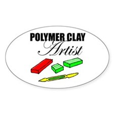 Polymer Clay Artist Oval Stickers