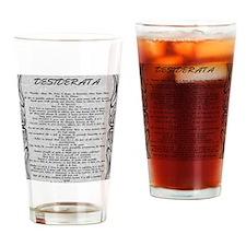 Stone DESIDERATA Tattoo Trim Drinking Glass