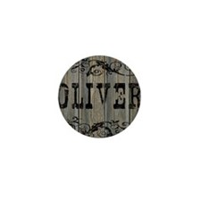 Oliver, Western Themed Mini Button