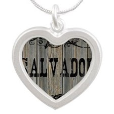 Salvador, Western Themed Silver Heart Necklace