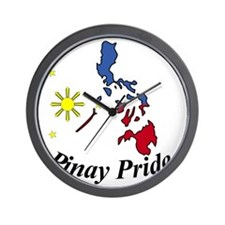 Pinay Pride Map Wall Clock