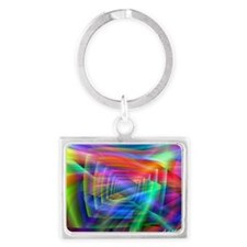 Abstract Colors Landscape Keychain