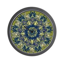 Cannabis Kaleidoscope II Wall Clock