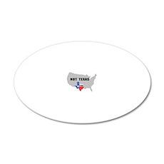 Texas 20x12 Oval Wall Decal