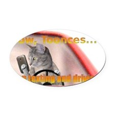 tooncescat Oval Car Magnet