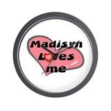 madisyn loves me  Wall Clock