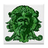 Green Man: Metamorphosis Tile Coaster
