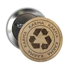 """Vintage Karma 2.25"""" Button"""